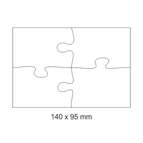 Puzzle 140 x 95 mm με εκτύπωση
