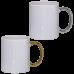 Κούπα λευκή - χρυσό ή ασημί χερούλι με τύπωμα της αρεσκείας σας