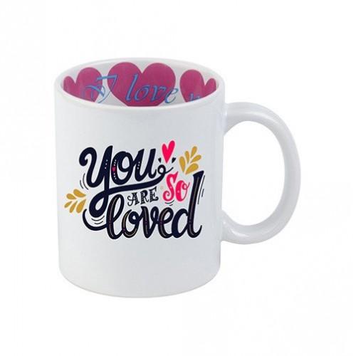 """Κούπα με Εσωτερική Εκτύπωση """"I Love You"""" 11oz - 325ml"""